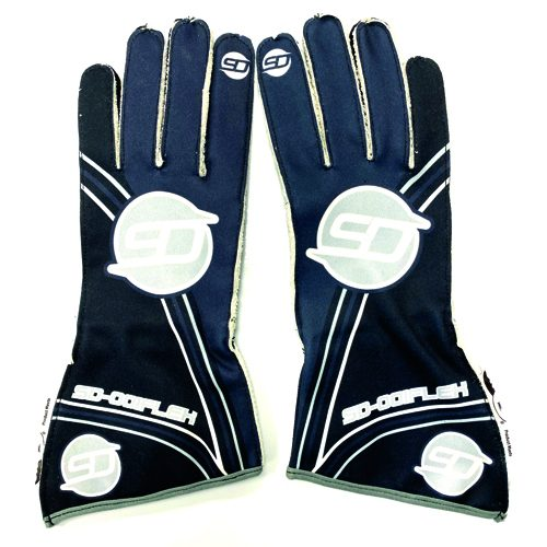 gloves black-grey